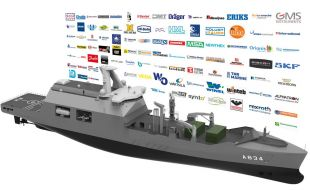 Main contractor Damen and more than a hundred companies contribute to combat support ship - Κεντρική Εικόνα
