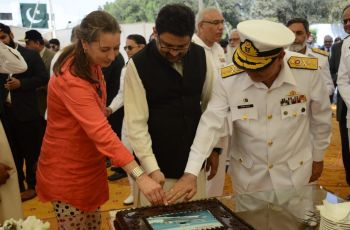 cake_cutting_ceremony_karachi_shipyards_engineering_works_delivers_two_damen_stan_patrol_1605_frp_patrol_boats_to_pakistan_customs
