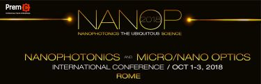 NANOP 2018 - Nanophotonics and Micro/Nano Optics International Conference - October 1-3, Rome, Italy  - Κεντρική Εικόνα
