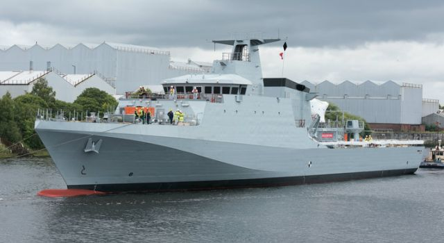 defence_minister_announces_acceptance_of_royal_navys_new_offshore_patrol_vessel_forth_bae_systems