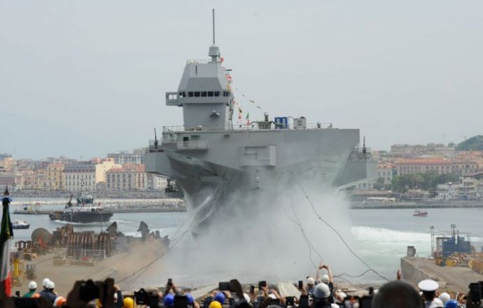 "Fincantieri: The Multipurpose Amphibious Unit ""Trieste"" Launched in Castellammare di Stabia - Κεντρική Εικόνα"