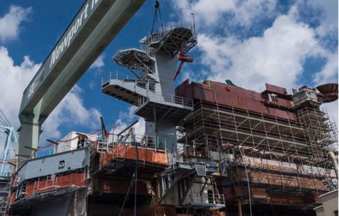huntington_ingalls_industries_lands_new_radar_tower_during_uss_george_washington_refueling_and_complex_overhaul