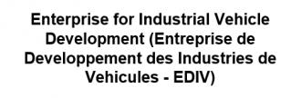 Enterprise for Industrial Vehicle Development (Entreprise de Developpement des Industries de Vehicules - EDIV) - Logo