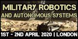 Military Robotics and Autonomous Systems 2020, 1-2 April, London, UK - Κεντρική Εικόνα