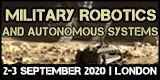 Military Robotics and Autonomous Systems 2020, 2-3 September, London, UK - Κεντρική Εικόνα