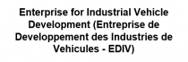 Enterprise for Industrial Vehicle Development (Entreprise de Developpement des Industries de Vehicules - EDIV) - Logo